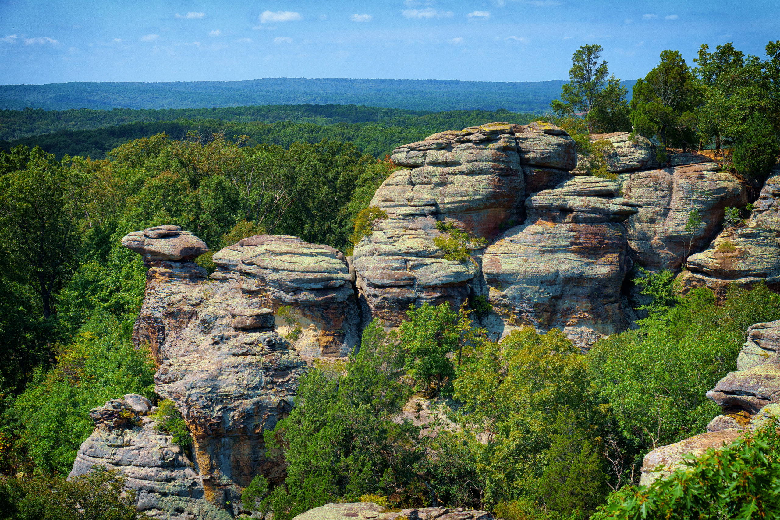 Camel Rock at Garden of the Gods in southern Illinois