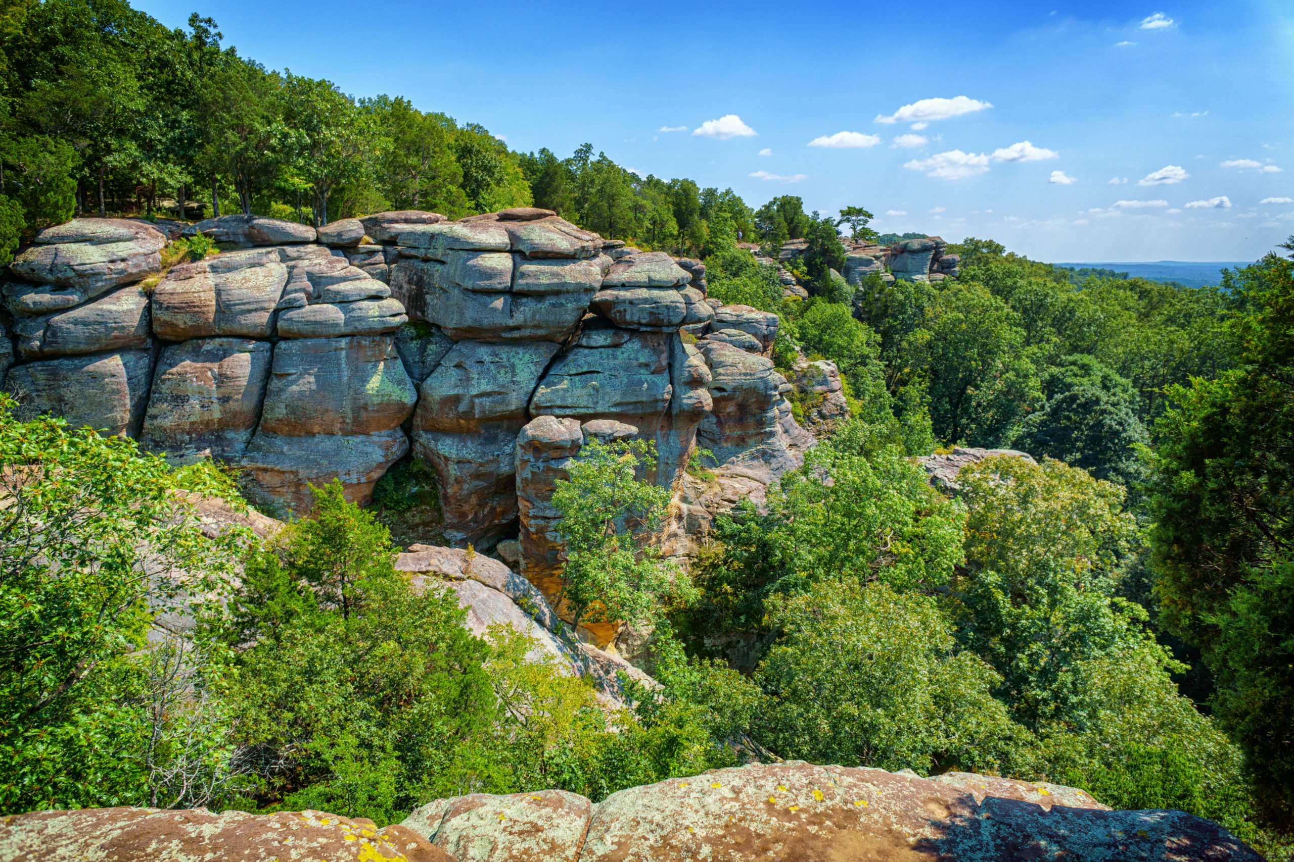 A view of cliffs at Garden of the Gods in Southern Illinois.